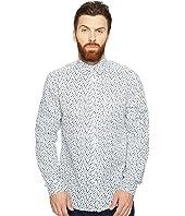 Ben Sherman - Long Sleeve Mod Print Geo Shirt