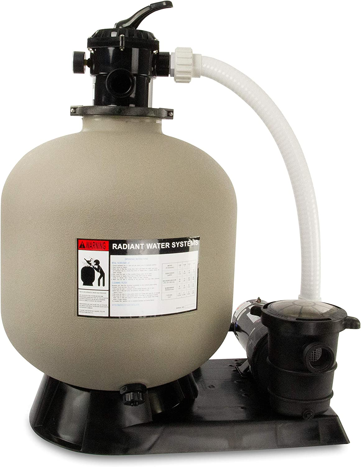 Rx Clear Radiant Complete Sand System for Ground Max 82% OFF Filter Above NEW