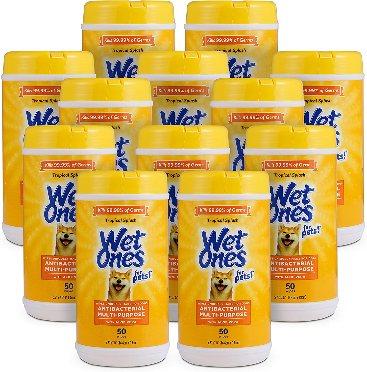 Wet Ones for Pets Antibacterial with OFFicial Multi-Purpose Alo Wipes Dog Raleigh Mall