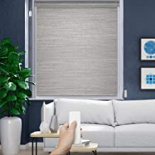 Godear Design Deluxe Motorized Roller Shade with Cassette Valance, Battery Operated and Remote Controlled, 46