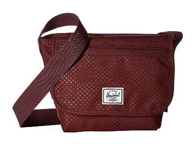 Herschel Supply Co. Grade Mini (Plum Dot Check) Messenger Bags