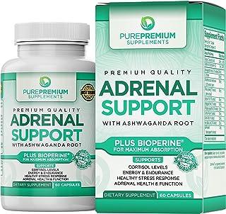 Premium Adrenal Support Supplement by PurePremium (Non-GMO & Gluten-Free) Maximum Strength Formula - Support Cortisol Leve...