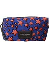 Marc Jacobs - Flocked Stars Printed Biker Large Landscape Pouch