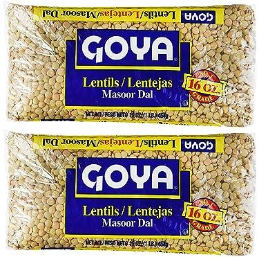 Goya Lentils   Lentejas   Masoor Dal 16oz (Pack of 02)