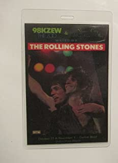 1981 Rolling Stones Kzew Radio Promo Backstage Pass Dallas,Tx