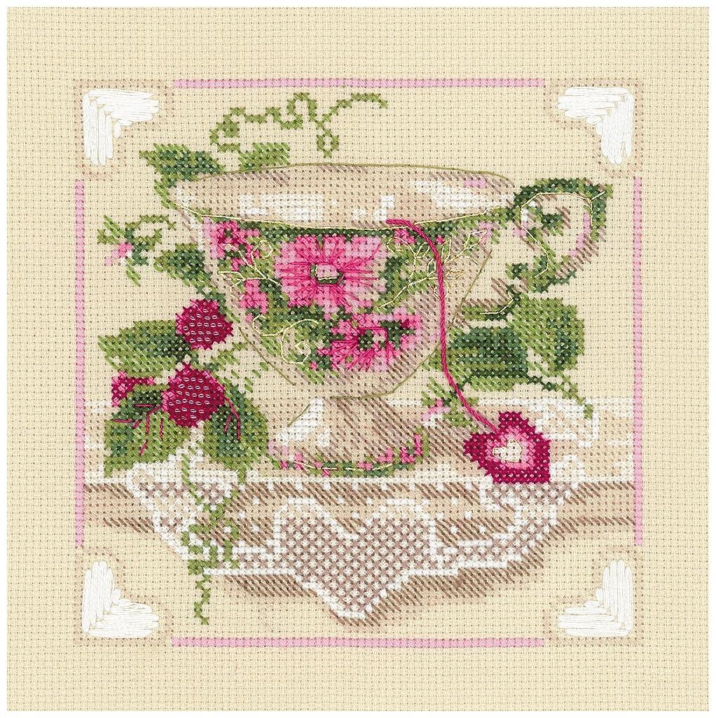 RIOLIS 1476 - Raspberry Tea - Counted Cross Stitch Kit 8