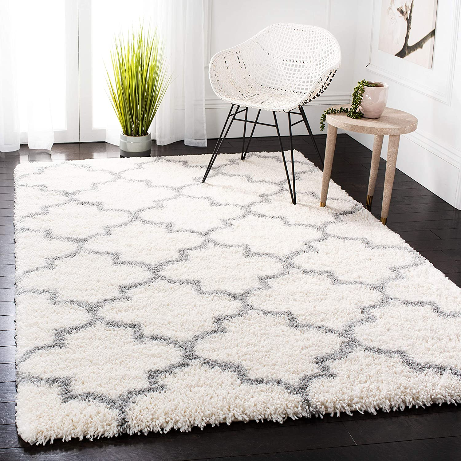 SAFAVIEH Fontana Shag Collection It is very popular Moroccan Trellis Cheap mail order sales FNT818A Non-Sh