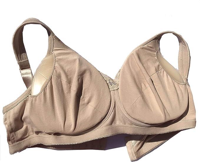 34B, Beige BIMEI Pocket Bra for Silicone Breast forms for Mastectomy Crossdresser False Boob8998J