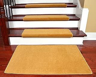 Dean Modern DIY Peel and Stick Bullnose Wraparound Non-Skid Carpet Stair Treads - Gold Coast 30