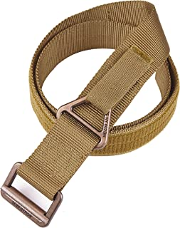 Seibertron Men's Utility TDU 1.75-Inch Nylon Tactical CQB/Rigger's Military Combat Duty Belt Metal Buckle 3 Years Warranty