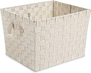 Whitmor Woven Strap Storage Tote Latte