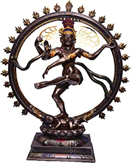 BRK HANDICRAFT 1.5 feet (18 inches) Height Shiva Statue Nataraja Idol | Dancing Natraj Antique Finish | Home Décor | Bronze Nataraja Statue Shiva Sculpture Large