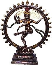 BRK HANDICRAFT 1.5 feet (18 inches) Height Shiva Statue Nataraja Idol | Dancing Natraj Antique Finish | Home Décor | Bronze Nataraja Statue Shiva Sculpture Large
