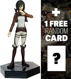 Attack on Titan Mikasa Ackerman: Ichiban Kuji x (C Prize) + 1 Free Official Japanese Trading Card Bundle