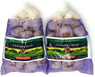 2 Pound Fresh Garlic USA California Heirloom Gilroy Finest, Pack of 2