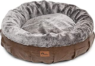Superior Pet Goods Harley Faux Leather and Rabbit Fur Dog Bed, Jumbo