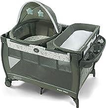 Graco Pack 'n Play Travel Dome Playard | Includes Travel Bassinet, Full-Size Infant Bassinet, and Diaper Changer, Oskar