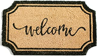 Printed Indoor/Outdoor PVC Backed Natural Coir Doormat - Welcome