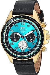 Vestal 'ZR2' Quartz Stainless Steel and Leather Casual Watch, Color:Black (Model: ZR243L23.BK)
