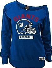 Outerstuff NFL Junior Girls Wide Receiver Long Sleeve Boat Neck Sweatshirt, New York Giants, Dark Royal, M(7-9)