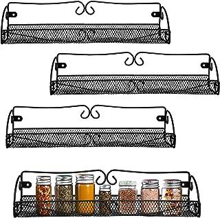 BELLE VOUS Especieros de Pared (4 Piezas) - Tamaño L40cm H85cm W9cm de - Estante Especias para Botes y Exhibir Frascos ...