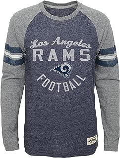 NFL Youth Boys Football Pride Pride Long Sleeve Tee-Heather Dark Navy-M(10-12), Los Angeles Rams