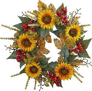 Best burlap sunflower wreath for sale Reviews