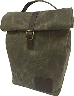 Spruced Insulated Waxed Canvas Lunch Bag for Men, Women | Perfect for Work. Professional, Practical, Stylish | Reusable. Keeps Food Cold. Easy to Carry (Alpine Green)