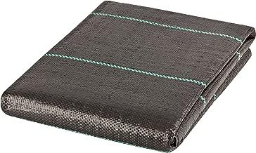 GardenMate 6 x 33 feet Sheet Woven Weed Control Fabric - UV stabilized Black Heavy Duty 3 oz/yd² Landscape Ground Cover Membrane
