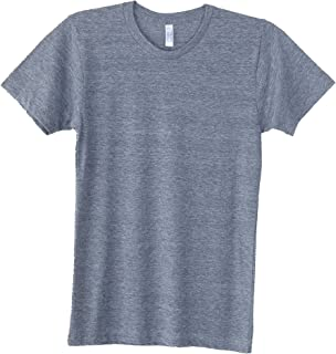 American Apparel Unisex Men's Tri-Blend Short Sleeve Crewneck Track T-Shirt
