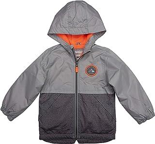 Carter's Boys' Fleece Lined Perfect Midweight Jacket, Grey/Orange, 7