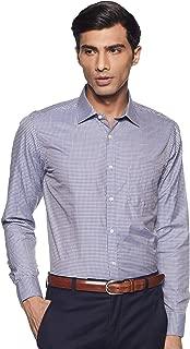 Max Men's Checkered Slim Fit Formal Shirt