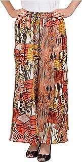 COTTON BREEZE Women's A-Line Skirt (Multi-Coloured, Size: 28-36)