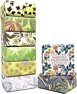 Greenwich Bay Trading Company Shea Soap Sampler Set 8 Packs 1.9 oz - Lemon Verbena, Zinnia Aloe Butter, Cucumber Olive Oil, Passion Flower, Seafresh Mineral, Lavender Chamomile, Green Tea, Wildflower