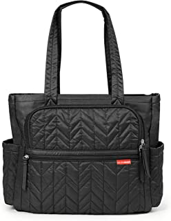 Skip Hop Diaper Bag Tote Forma, Multi-Function Baby Travel Bag with Changing Pad, Polyester, Jet Black