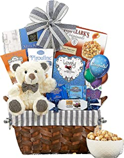 Bear Hugs Congratulations Gift Basket Perfect Gift For Graduation Promotion New Home Wedding Congrats w/ Godiva Ghirardelli Caramel Popcorn