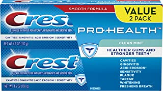 Crest Pro-Health Clean Mint Toothpaste, 4.6oz, Twin Pack (Packaging May Vary)