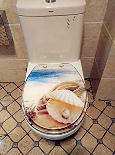 Toilet Seat Cover Resin Bathroom Soft Close Quick Release Easy Install Shell
