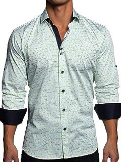 Mens Designer Dress Shirt LS - Stylish & Trendy - Class...
