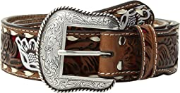M&F Western - Floral Pierced Painted Laced Edge Belt