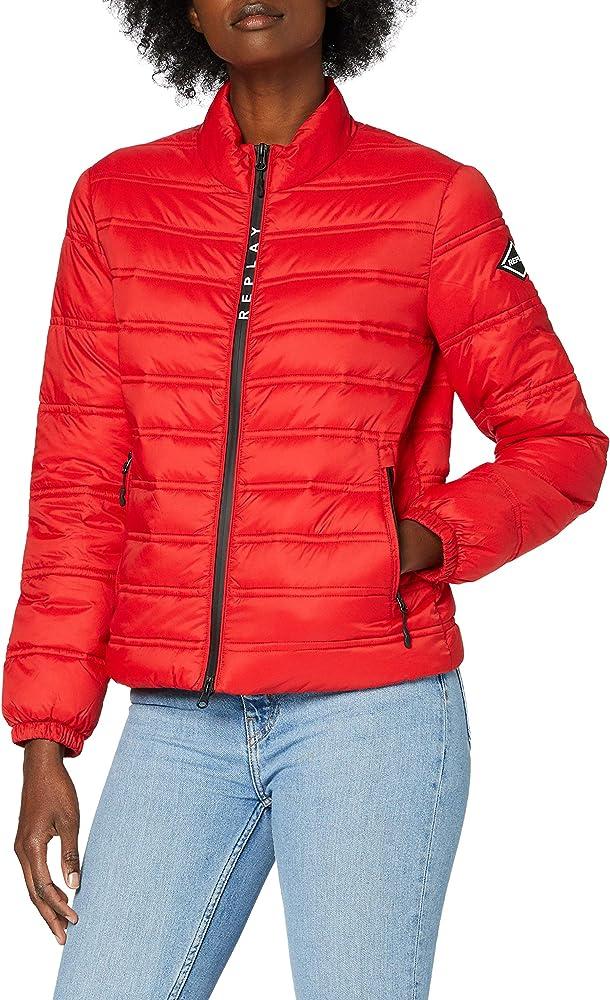 Replay, giacca,giubotto leggero per donna imbottito e trapuntato, in nylon W7496A.000.83806