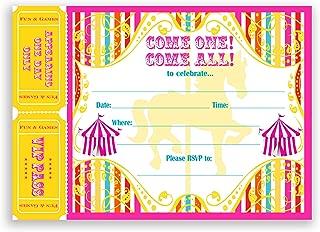 POP parties Carousel Carnival Large Invitations Multi - 10 Invitations + 10 Envelopes