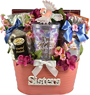 Gift Basket Village It's A Sister Thing, Gift Basket to Celebrate Sisters Everywhere, Filled with Delicious Treats, Refres...