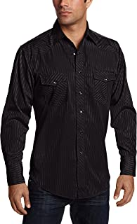 Wrangler Men's Sport Western Long Sleeve Snap Shirt