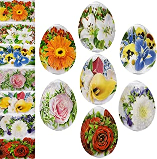 Diximus Floris Flowers Easter Egg Wraps Thermo Heat Shrink Sticker Wraps Pysanka Pysanky Sleeve Decoration