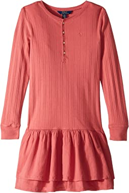 Cotton Henley Dress (Little Kids/Big Kids)