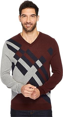Perry Ellis - Modern V-Neck Sweater
