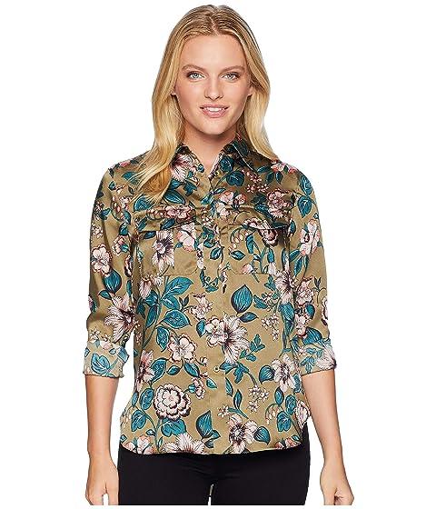 4539b9d9e LAUREN Ralph Lauren Petite Floral-Print Button-Down Shirt at 6pm