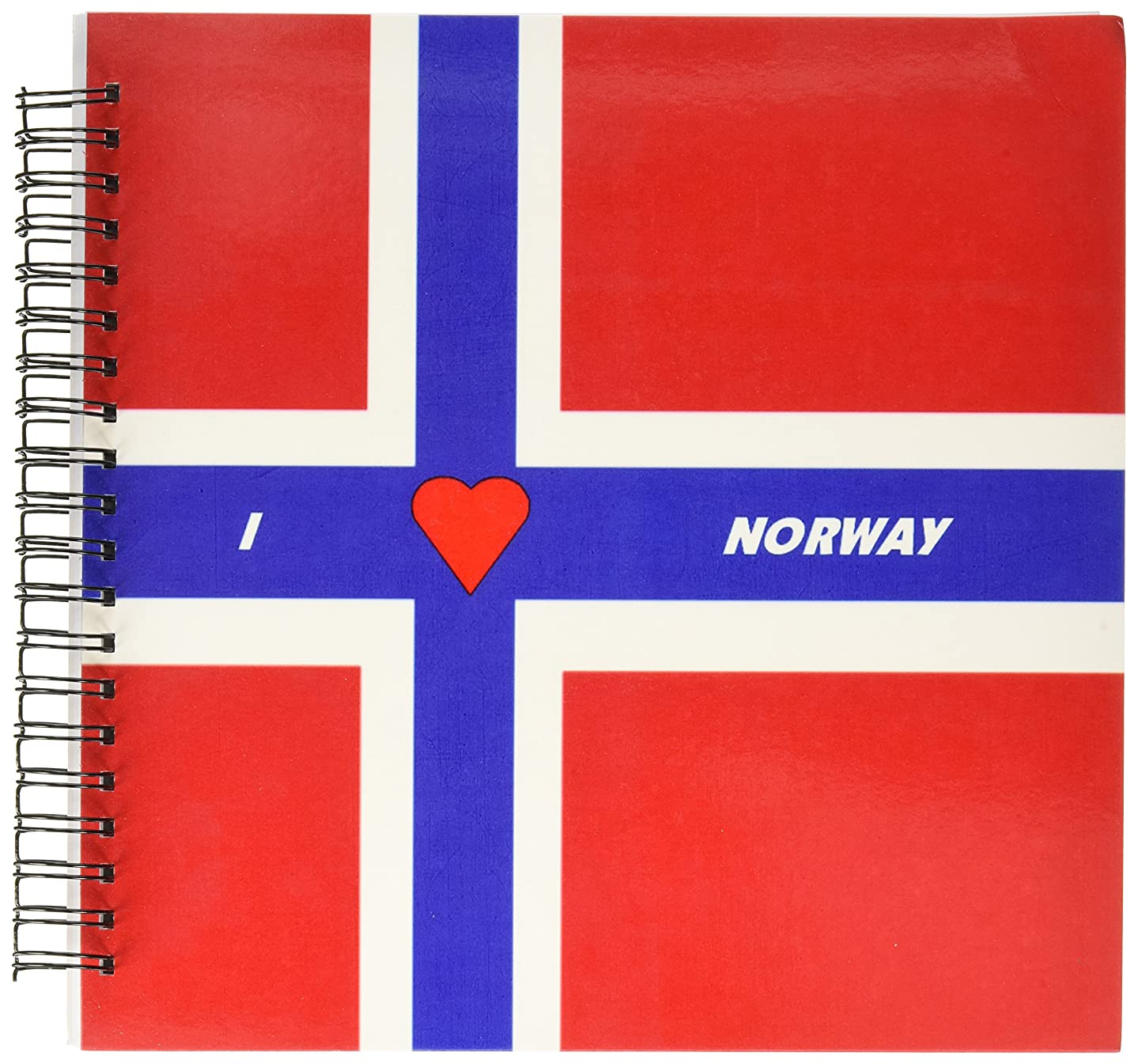 3dRose db_51522_2 I Love Norway Memory Book, 12 by 12-Inch