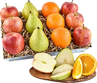Premium Signature Orchard Fruit Basket with 6 Apples, 3 Pears and 3 Oranges (12 pieces) of Orchard Fresh Fr...